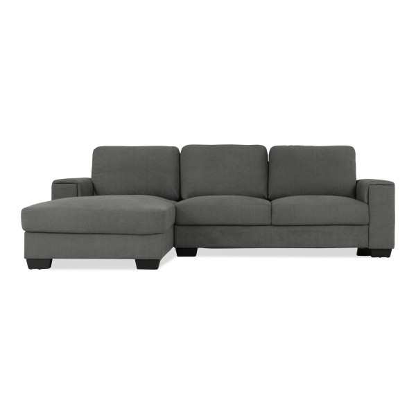 Valencia 3 Seater L Shape-Rest Section on RIGHT Side when Seated (Dark Grey)