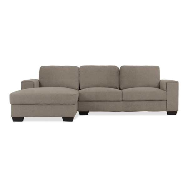 Valencia 3 Seater L Shape-Rest Section on RIGHT Side when Seated (Cappuccino)