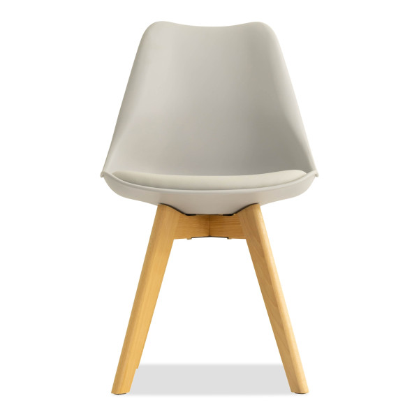 Tulip Replica Chair with Cushion (Grey)