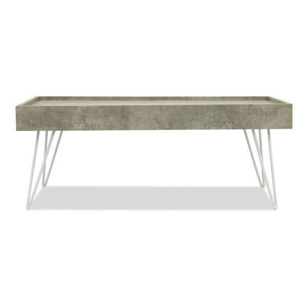 Harwood Coffee Table (Light Concrete)