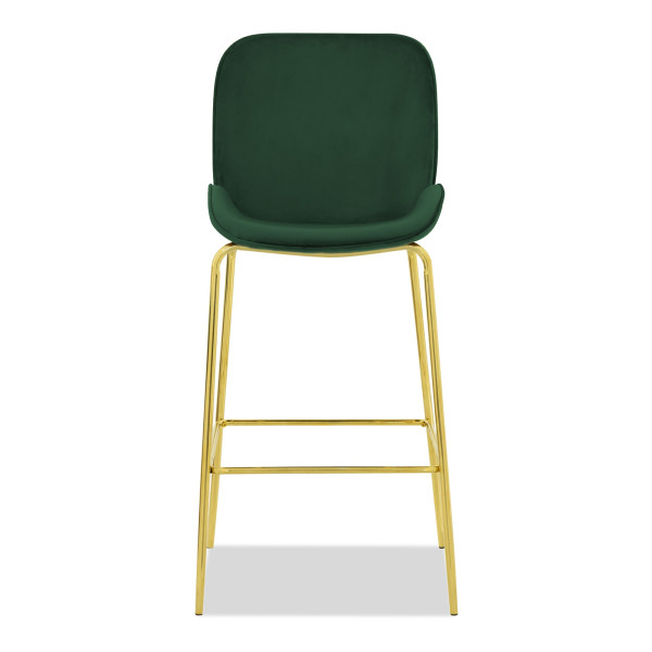 Beetle Bar Chair Replica in Velvet (Green)