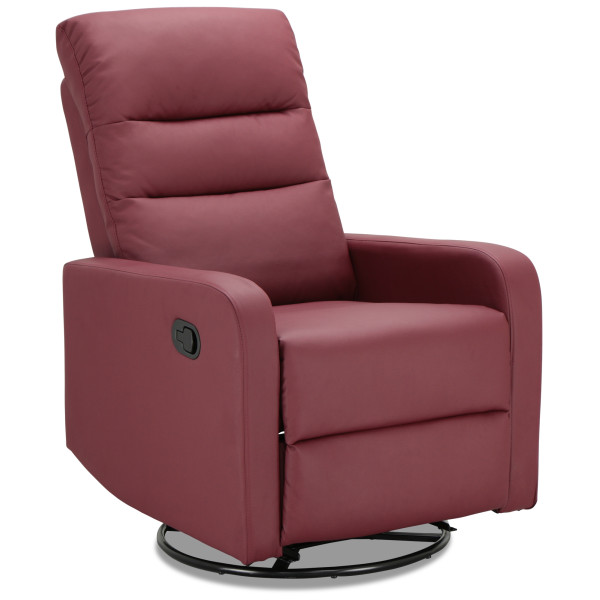 Rasco Recliner with Swivel (PU Dark Red)
