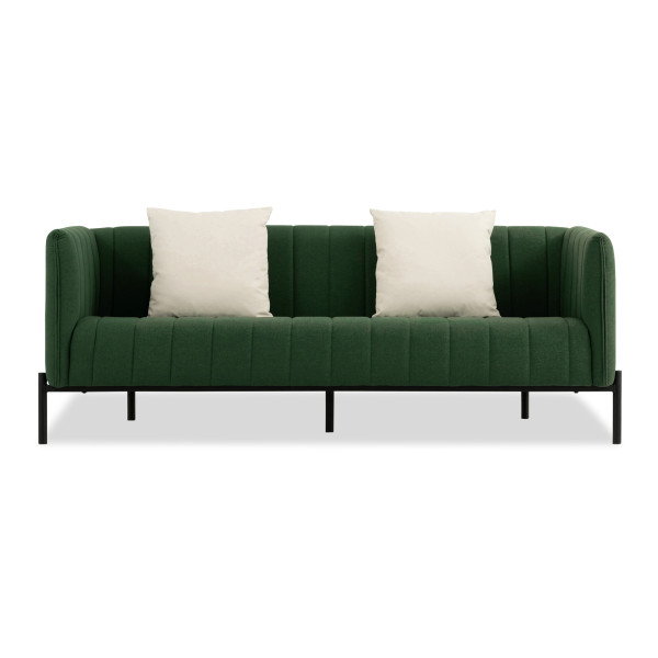 Delphie 3 Seater Sofa (Muted Green)