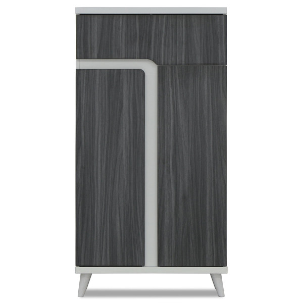 Damir I Shoe Cabinet in Ashwood and White