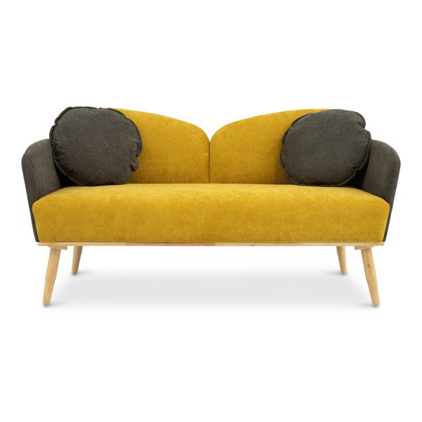Vinger 2 Seater Sofa Set (Yellow)