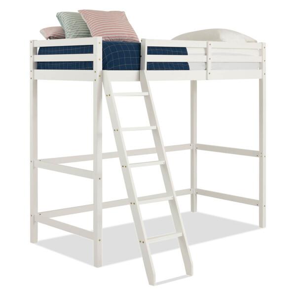 Lucine Loft Bed (Single, White)
