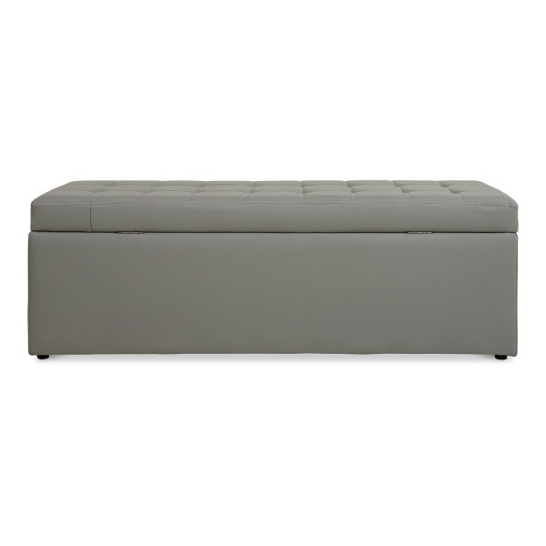 Carissa Storage Bench PVC Grey (Long)