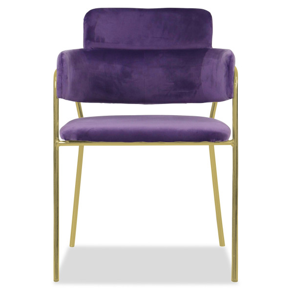 Emmiel Chair with Gold Legs (Purple)