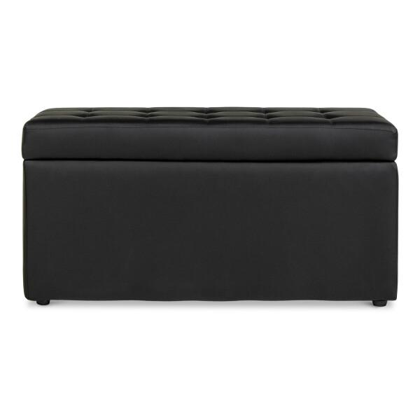 Carissa Storage Bench PVC Black