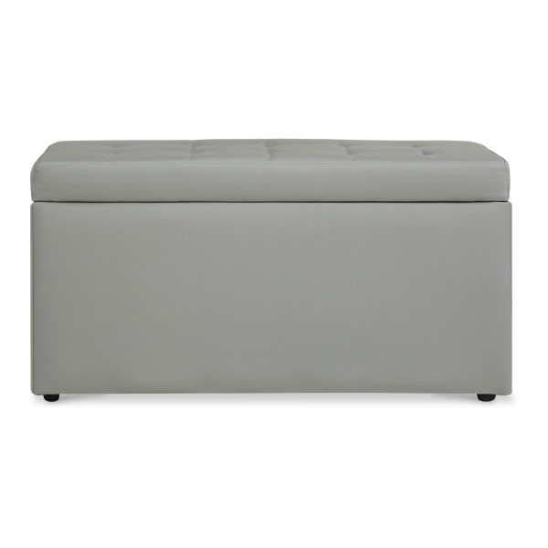 Carissa Storage Bench PVC Grey