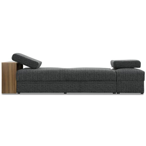 Tomos Storage Sofa Bed Fabric Grey
