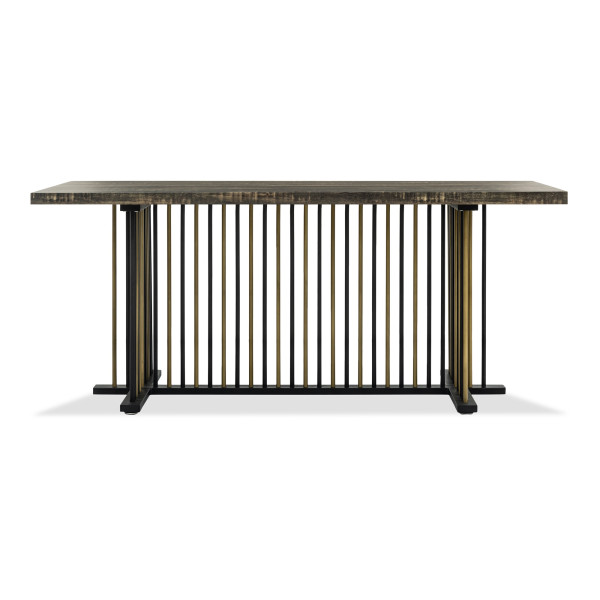 Clyde Dining Table with Gold Leg