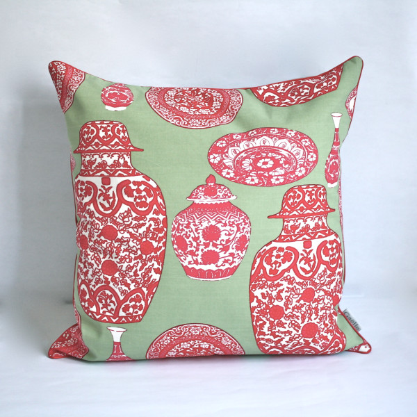 Porcelaine Mint Pillow 2
