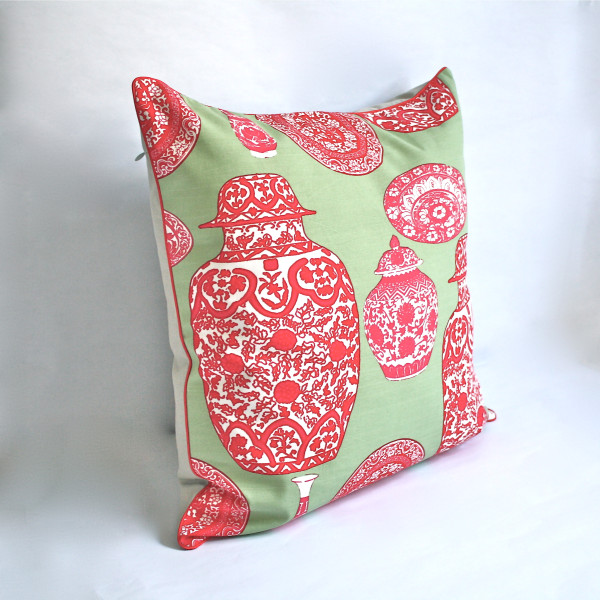 Gaëlle Designer Pillow - 50cm x 50cm Porcelaine in Mint