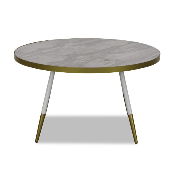 Marble Coffee Table In Singapore: Noveau Coffee Table In White Marble - Sale