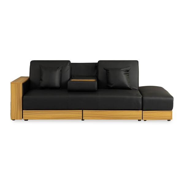 Sarai Storage Sofa Bed Pvc Black