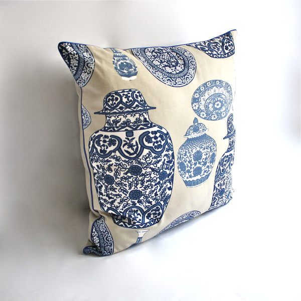 Porcelaine Blue Pillow 2