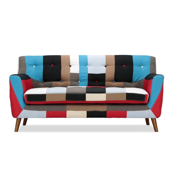 Lotus Continental Blue 3 Seater Sofa