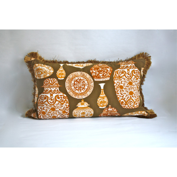 Porcelaine Bronze Pillow 2