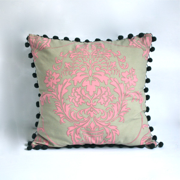 Gaëlle Designer Pillow - 45cm x 45cm Giverny in Rose