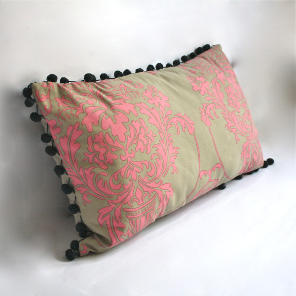 Gaëlle Designer Pillow - 38cm x 66cm Giverny in Rose