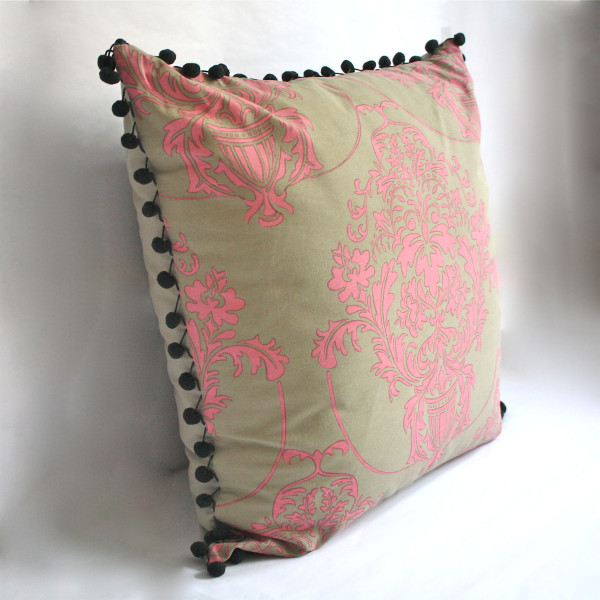Gaëlle Designer Pillow - 65cm x 65cm Giverny in Rose