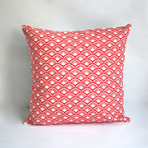 Gaëlle Designer Pillow - 50cm x 50cm Legacy in Crimson