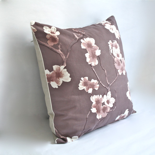 Sakura Eggplant Pillow 2