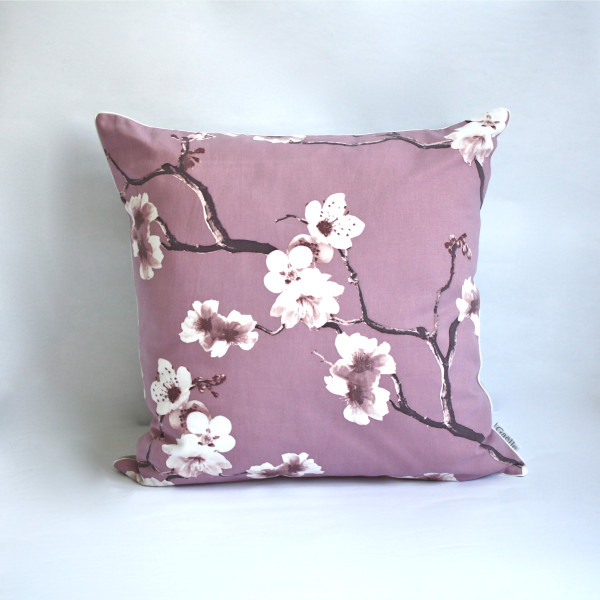 Gaëlle Designer Pillow - 50cm x 50cm Sakura in Plum