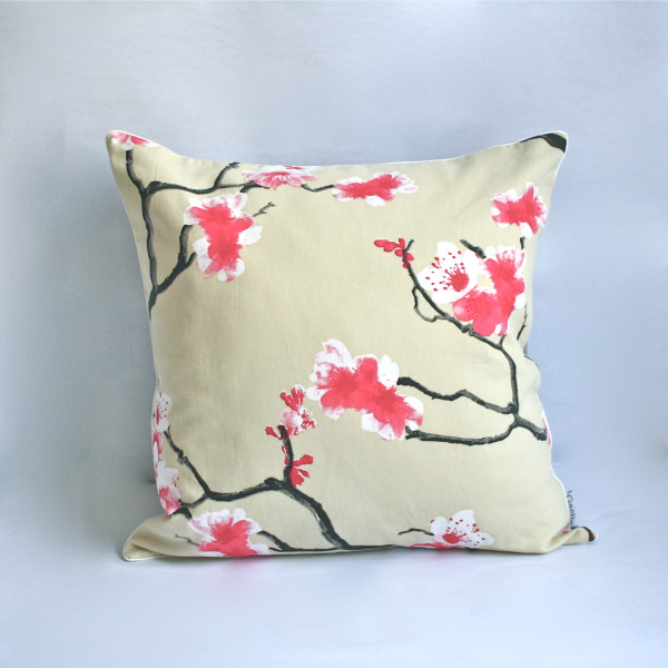 Gaëlle Designer Pillow - 50cm x 50cm Sakura in Cream