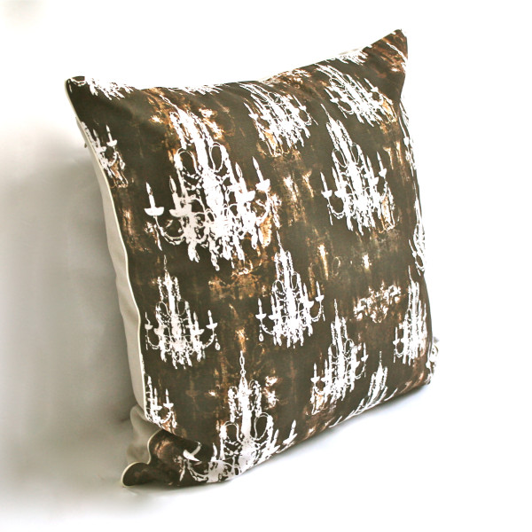 Gaëlle Designer Pillow - 50cm x 50cm Lumiere  in Taupe