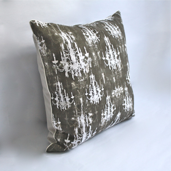 Gaëlle Designer Pillow - 50cm x 50cm Lumiere in Charcoal