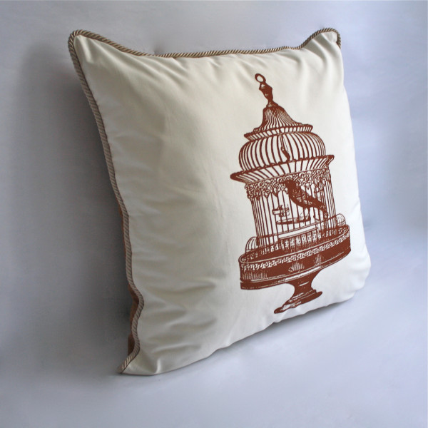 Bird Cage Pillow 2