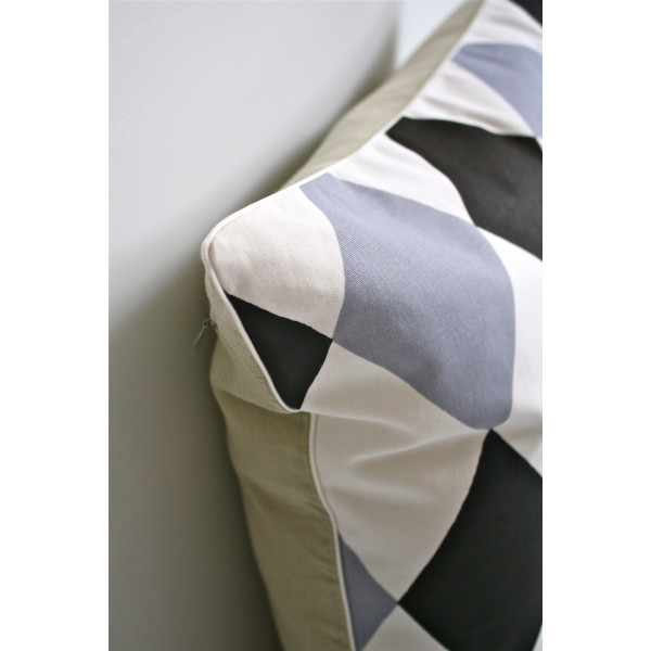 Harlequin Pillow Closeup
