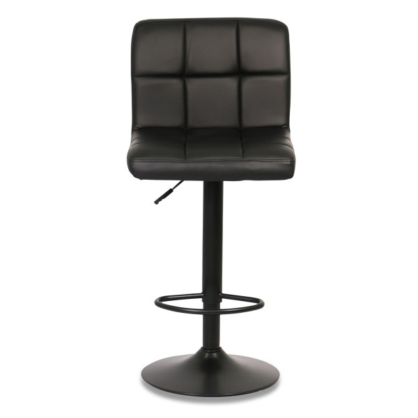 Isora Bar Stool with Black Base (Black)
