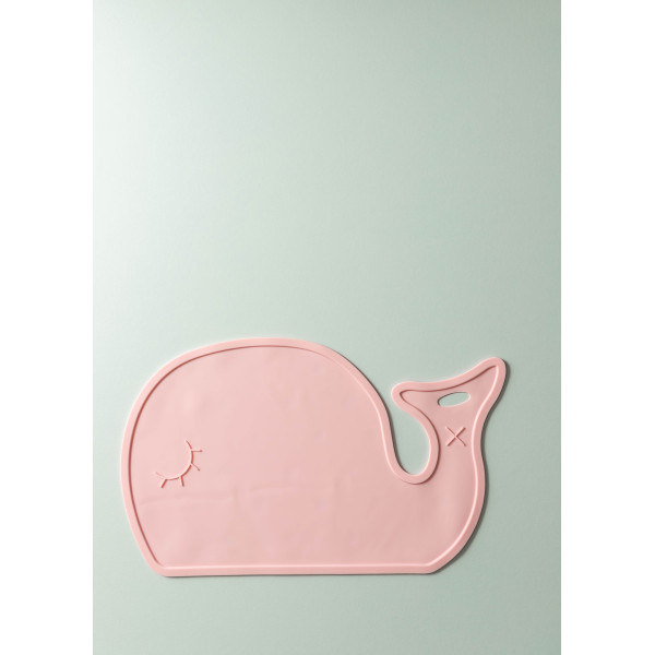 Maris Silicone Whale Placemat (Rose Pink)