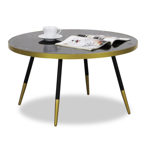 Marble Coffee Table In Singapore: Noveau Coffee Table In Black Marble