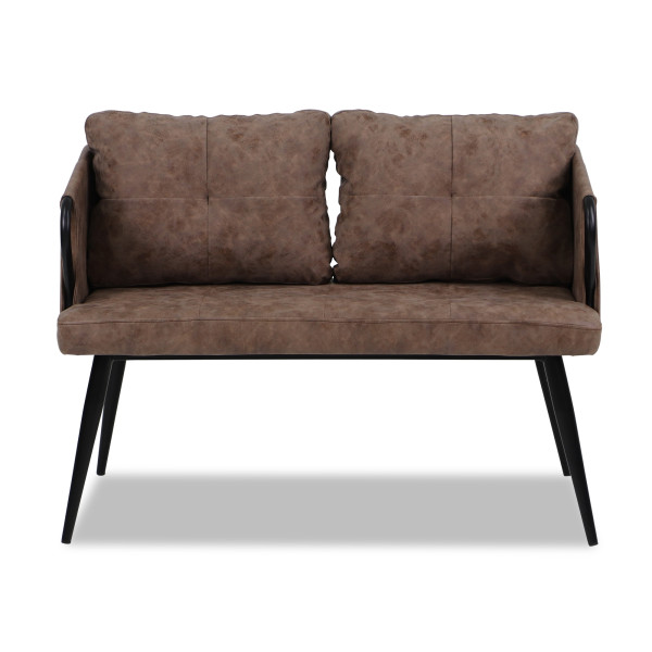 Lowie 2 Seater Chair (Brown)