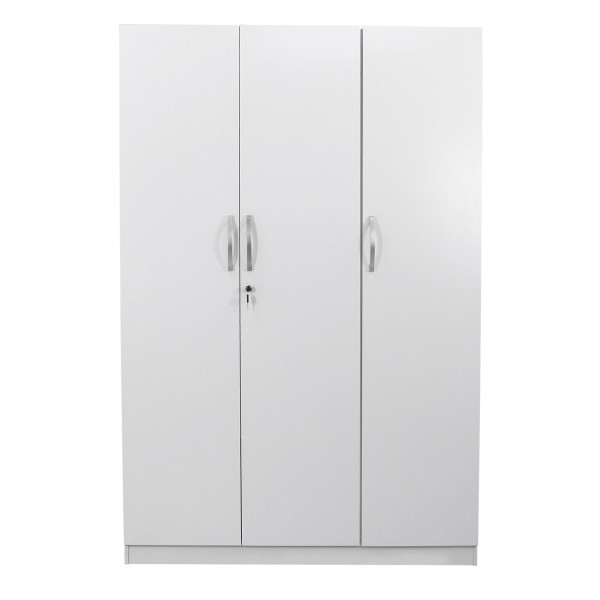 Malcom 3 Door Wardrobe in Snow White