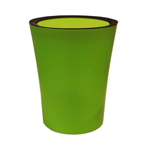 Mini Round Flip Bin (Green) By Qualy