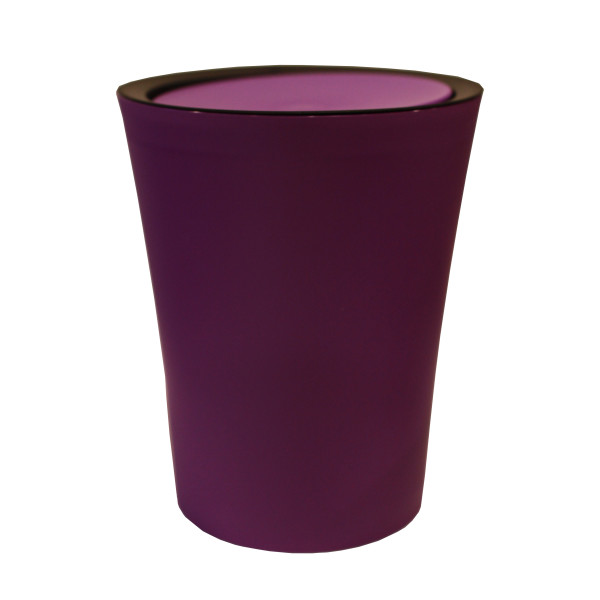 Mini Round Flip Bin (Purple) By Qualy