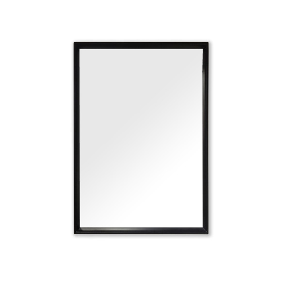 Philos - Retro Collection Matt Black Rectangle Mirror
