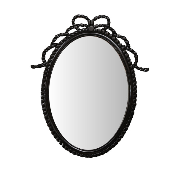 Philos - Black Bow Large Hand Carved Mirror (MR101-BLK)