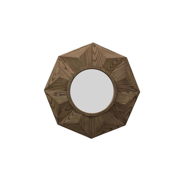 Philos - Dot Collection Octagan Walnut Mirror (MR1405-WAL)