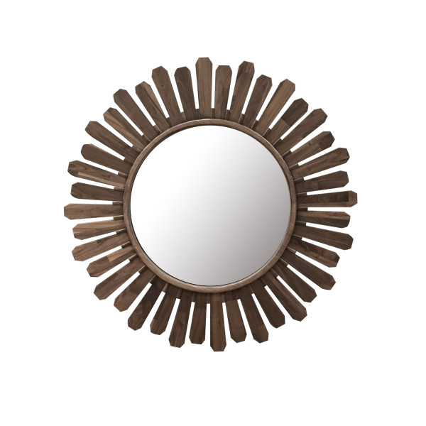 Philos - Diamond Daisy Walnut Sun II Mirror (MR1502-SW)