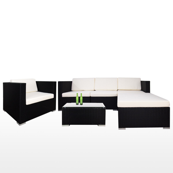 Summer Outdoor Modular Sofa Set II White Cushions