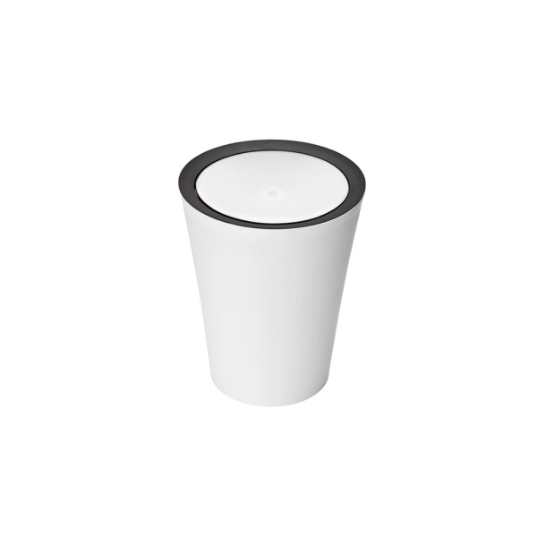 Mini Round Flip Bin (White) By Qualy