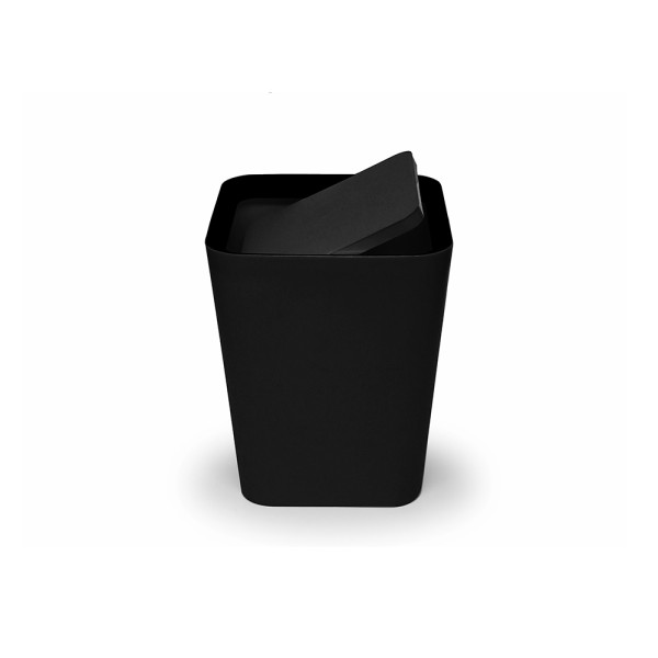 Mini Square Flip Bin (Black) By Qualy