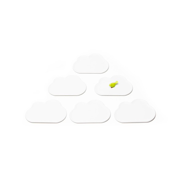 Cloud Coaster Set (White) by Qualy
