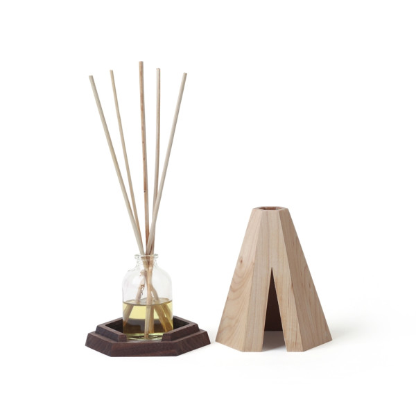 Teepi: Aromatic Diffuser Cover Set (Maple + Walnut) by Pana Objects
